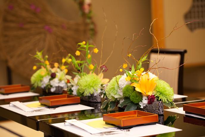 kanzansou gakusei01 桜坂観山荘で和式の模擬結婚式 市内の専門学校生も見学